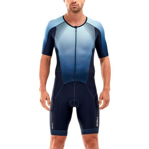 2XU Perform short sleeve trisuit blue men  MT5525D-MDN/FMB