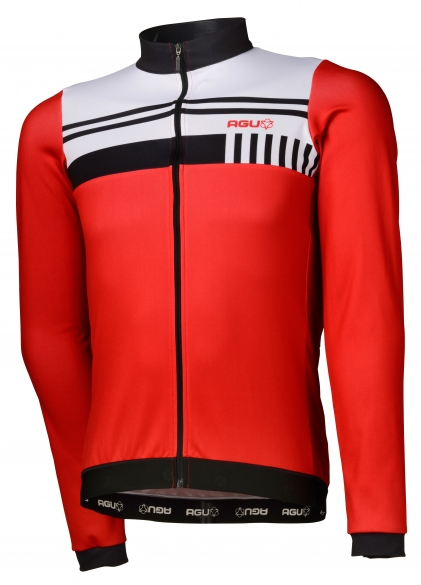 7b6a1bde5 Agu Naro cycling jersey long sleeve red white men online  Order Find ...