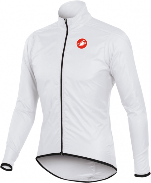 Castelli squadra long jacket white mens 10504-001  10504-001