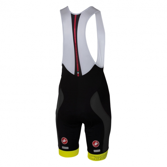 Castelli Velocissimo bibshort black/yellow men 16003-032  CA16003-032