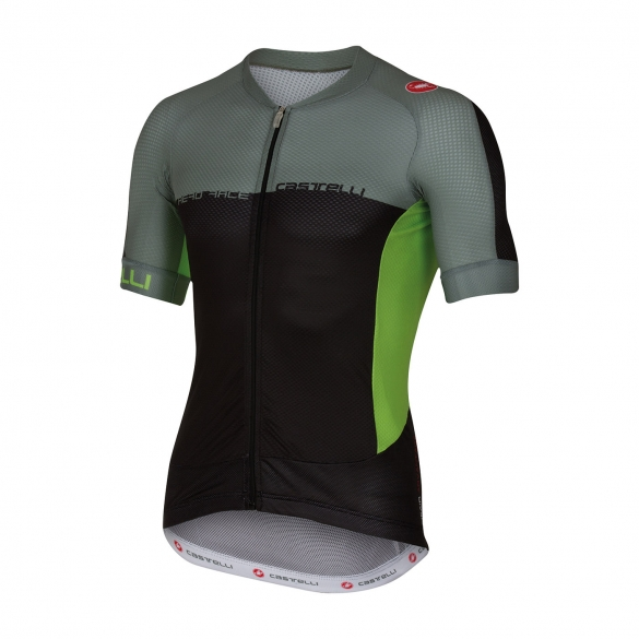 Castelli Aero race 5.1 jersey black/green men 16007-010  CA16007-010