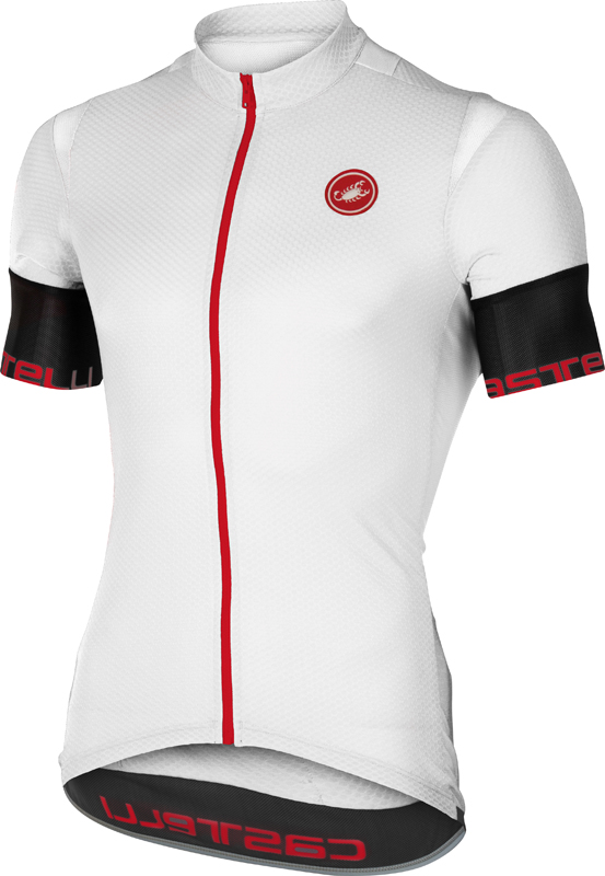 Castelli Entrata 2 jersey short sleeve white black men online  Order ... f208a4979
