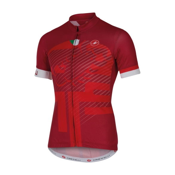 Castelli Veleno jersey red men 16018-017  CA16018-017