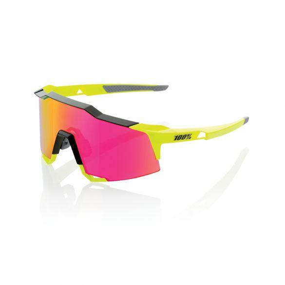 100% Speedcraft glasses yellow with mirror lens  18/61001M-014-72