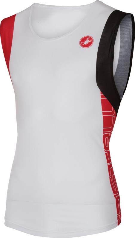 Castelli T.O. alii run top men white/red 16067-123  16067-123