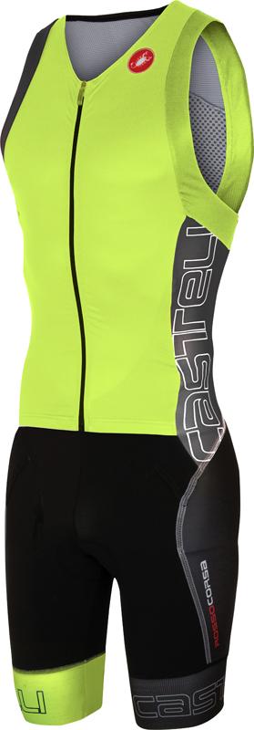 Castelli Free sanremo tri suit sleeveless yellow/anthracite men  16071-032