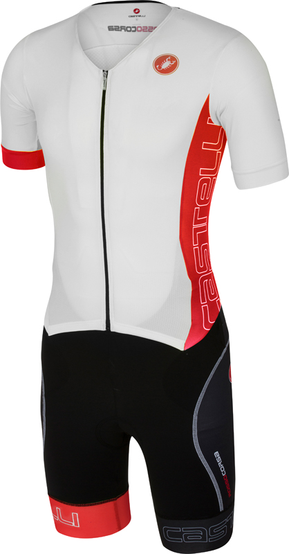 Castelli Free sanremo tri suit short sleeve men white/red 16073-123  16073-123