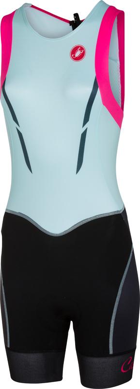 Castelli Free W tri itu suit sleeveless black/blue/pink women  16079-056