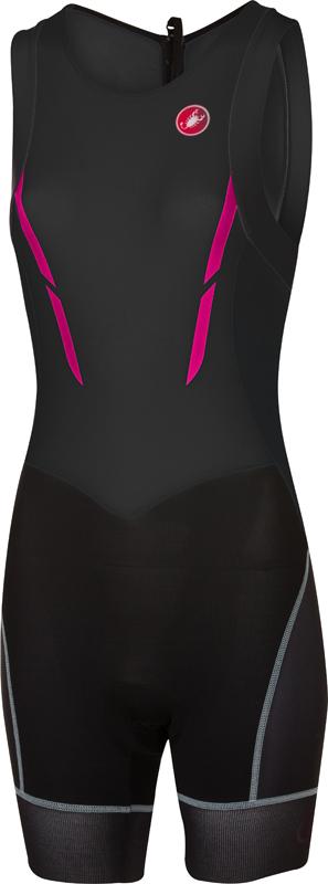 Castelli Short distance tri suit sleeveless black/pink women  17100-010