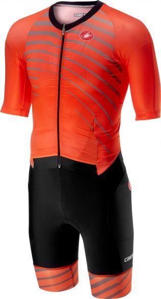Castelli All out speed trisuit short sleeve orange/black men  18104-034