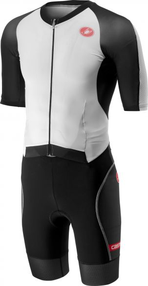 Castelli All out speed trisuit short sleeve white/black men  18104-101