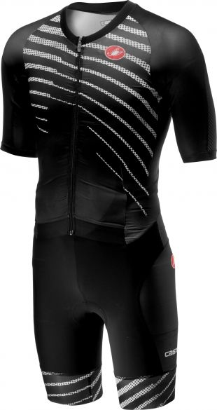 Castelli All out speed trisuit short sleeve black/black men  18104-110