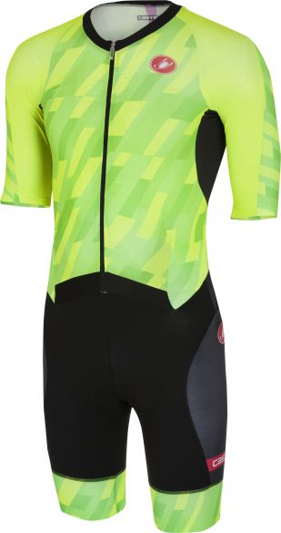 Castelli All out speed trisuit short sleeve pro green/black men  18104-084