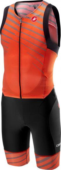 Castelli Free sanremo trisuit sleeveless black/orange men  18108-034
