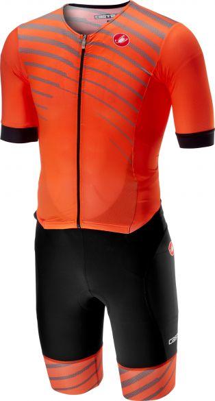 Castelli Free sanremo trisuit short sleeve black/orange men  18109-034