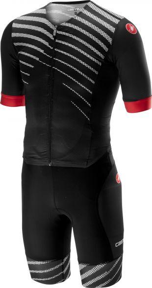 Castelli Free sanremo trisuit short sleeve black/black men  18109-110