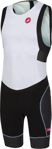 Castelli Free tri ITU suit back zip sleeveless white/black men  18110-101