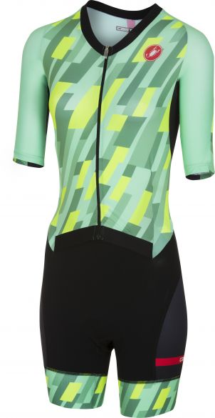 Castelli All out W speed trisuit short sleeve mint/yellow/black women  18115-060