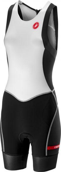 Castelli Free W tri ITU suit back zip sleeveless white/black women  18119-101