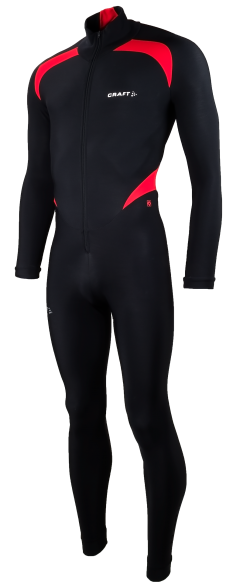 Craft Thermo skatesuit colorblock black/red unisex  940157-1994
