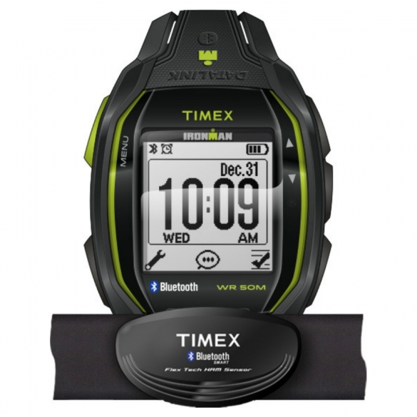 Timex Ironman sports watch Run x50+ w/HRM Anthracite/Lime TW5K88000  00461722