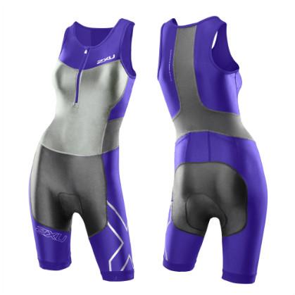 2XU Compression tri suit ladies G:2 2014 WT2701d  Purple hue/Charcoal  2XUWT2701DPUCH