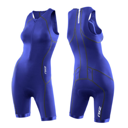 2XU Active tri suit ladies 2014 WT2718d Nautic blue  2XUMT2718DNABL