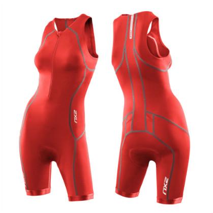 2XU Active tri suit ladies 2014 WT2718d Neon red  2XUMT2718DNERE