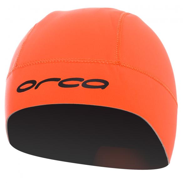 Orca Neoprene swim hat orange  GVBA54