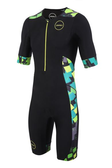 Zone3 Activate plus short sleeve trisuit Electric sprint men  TS18MACPS106