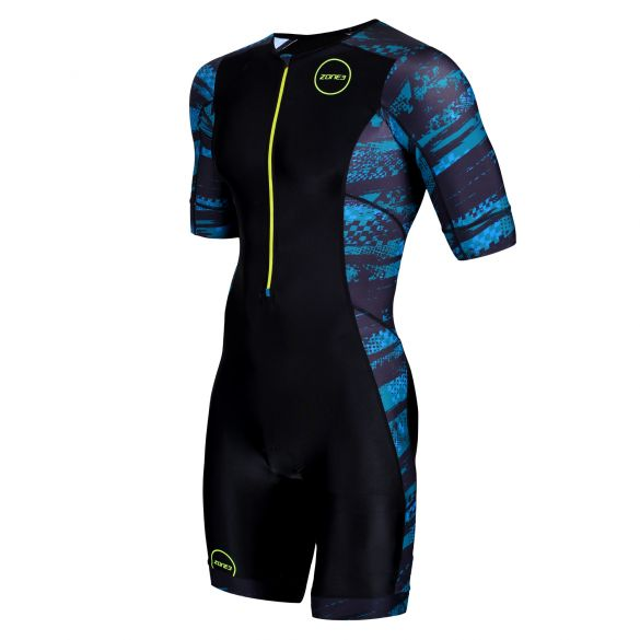 Zone3 Activate plus short sleeve trisuit Stealth speed men  TS19MACPP106