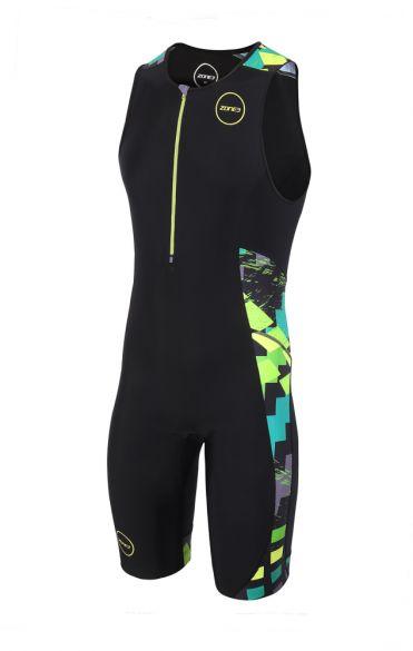 Zone3 Activate plus sleeveless trisuit Electric sprint men  TS18MACP106