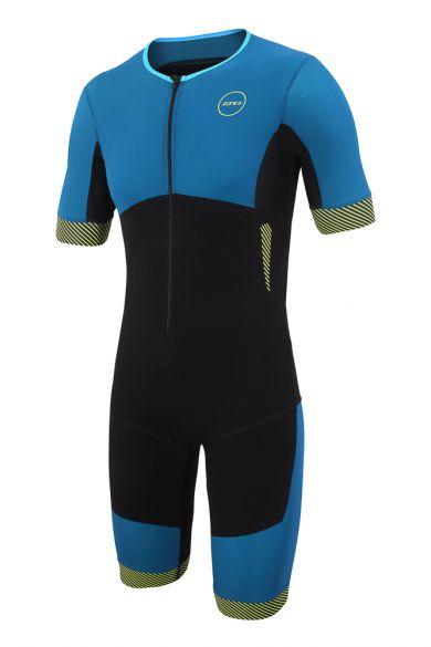 Zone3 Aeroforce short sleeve trisuit blue/black men  TS18MAFS101