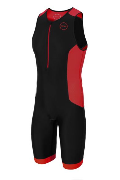 Zone3 Aquaflo plus sleeveless trisuit black/red men  TS18MAQP108