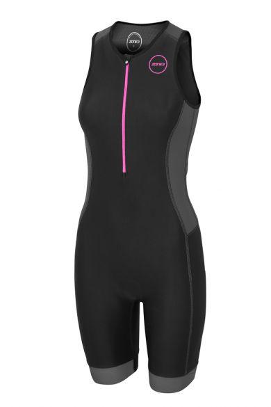 Zone3 Aquaflo plus Sleeveless trisuit black women  TS18WAQP114