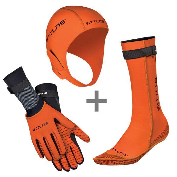 BTTLNS Neoprene accessories bundle orange  0120010+0120011+0120012-034