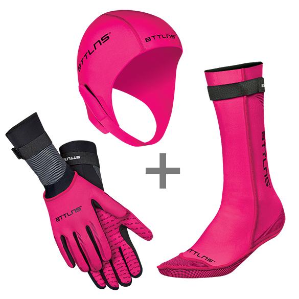 BTTLNS Neoprene accessories bundle pink  0120010+0120011+0120012-072