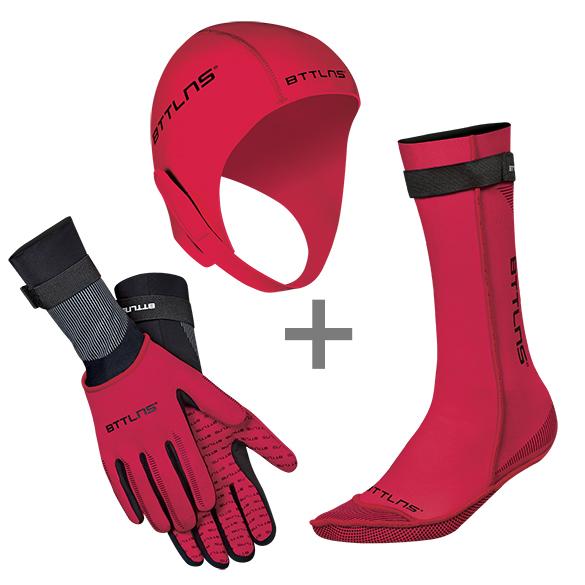 BTTLNS Neoprene accessories bundle red  0120010+0120011+0120012-003