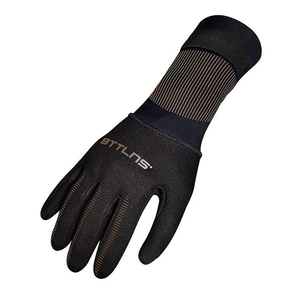 BTTLNS Neoprene swim gloves Boreas 1.0 black/gold  0121009-087