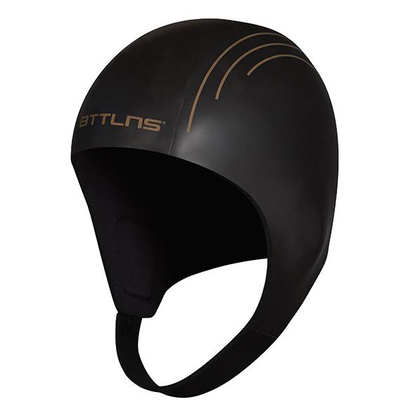 BTTLNS Neoprene swim cap Khione 1.0 black/gold  0121011-087