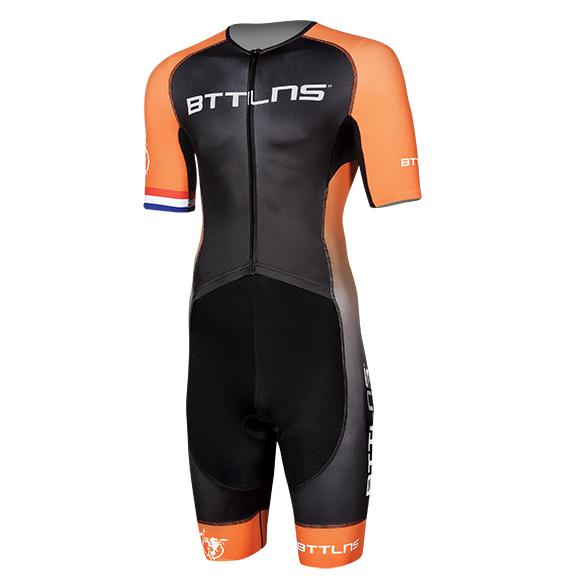BTTLNS Typhon 2.0 trisuit short sleeve black/orange men  0219008-120