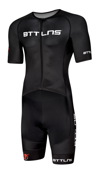 BTTLNS Typhon 2.0 trisuit short sleeve black men  0219008-010