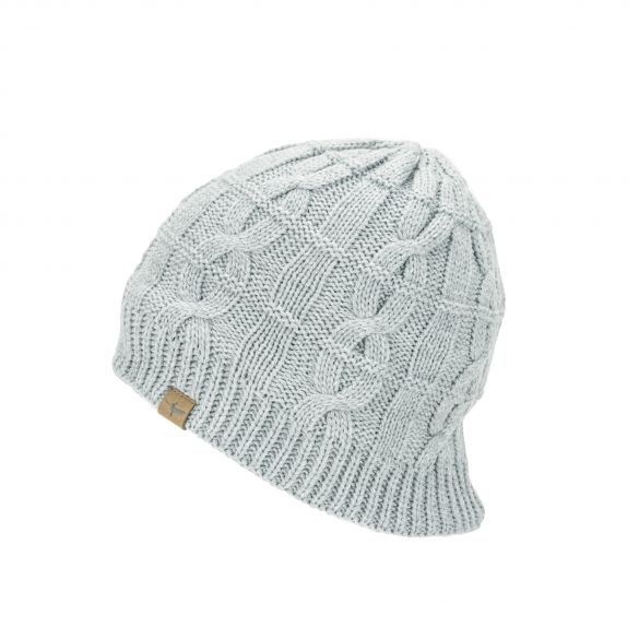 Sealskinz Cold Weather Cable knit beanie light gray  13100032-0000