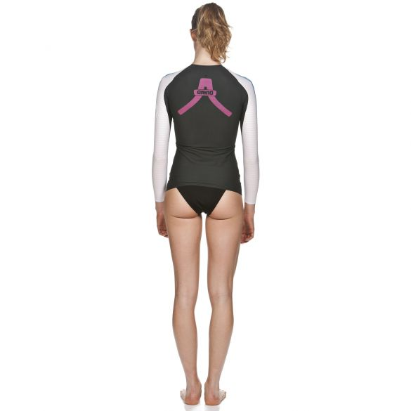 a8ed204cc Arena Carbon Compression long sleeve swimming shirt women AR1D141-53VRR