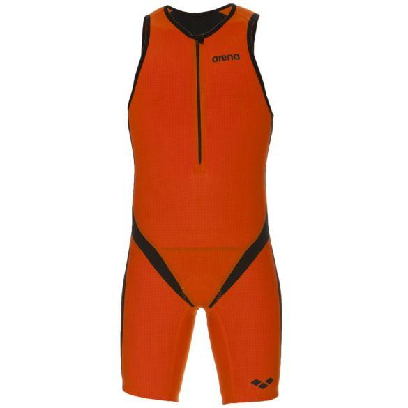 Arena Carbon pro front zip sleeveless trisuit orange men  AR1A936-35