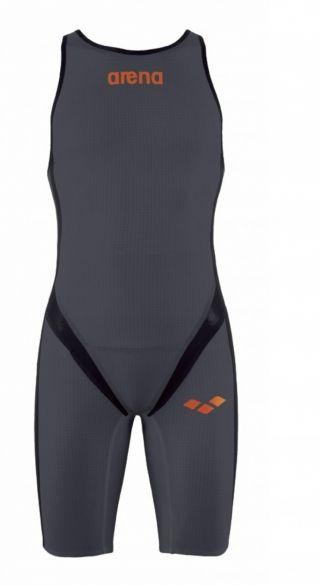 Arena Carbon pro rear zip sleeveless trisuit dark grey men  AR1A565-35