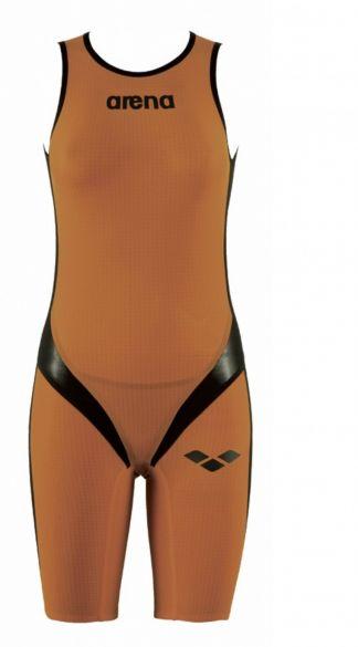 Arena Carbon pro rear zip sleeveless trisuit orange women  AR1A561-35