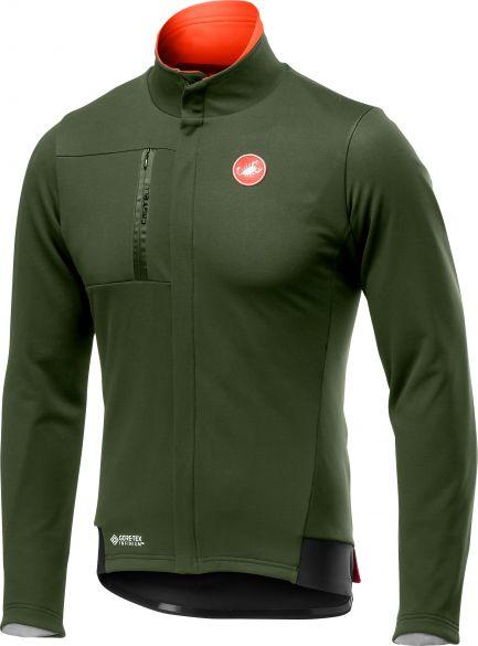 Castelli Double Espresso cycling jacket green men  19559-075