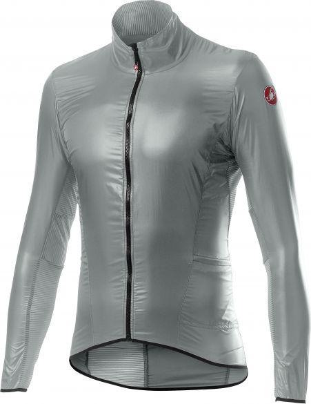 Castelli Aria shell cycling jacket silver men  20058-870
