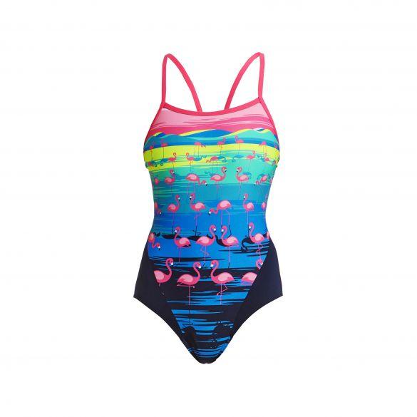 Funkita Flamingo flood single strap bathing suit women  FS15L02409